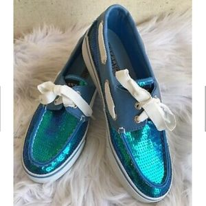 Sperry Top Sider Mermaid Boat Shoes Sequin